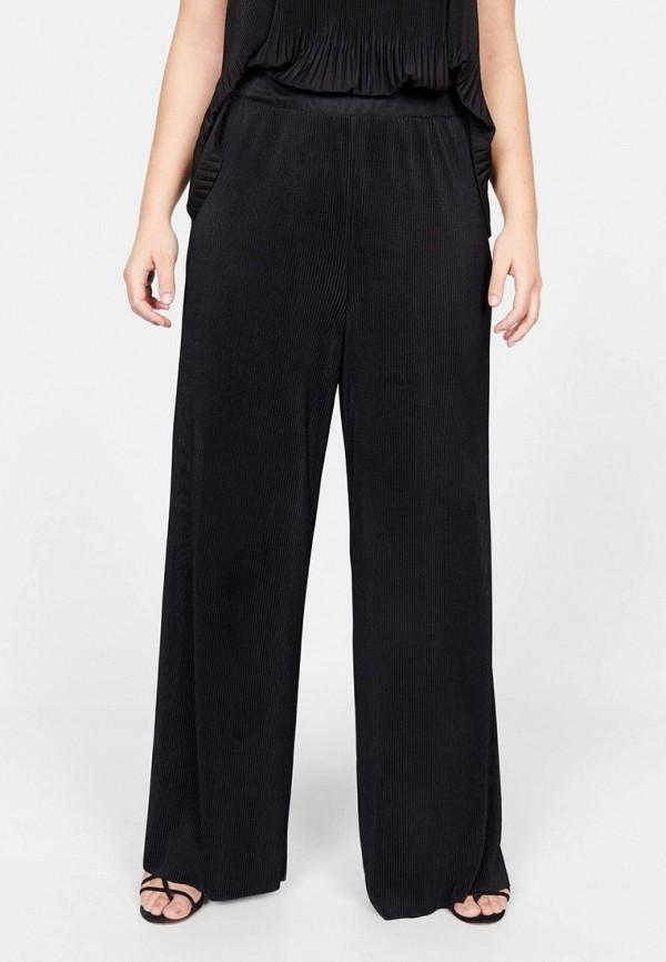 женские прямые брюки violeta by mango, черные