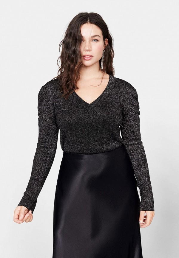 женский пуловер violeta by mango, серый