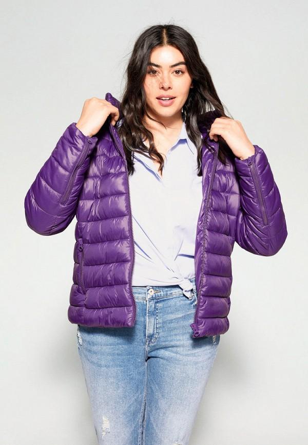 женская куртка violeta by mango, фиолетовая