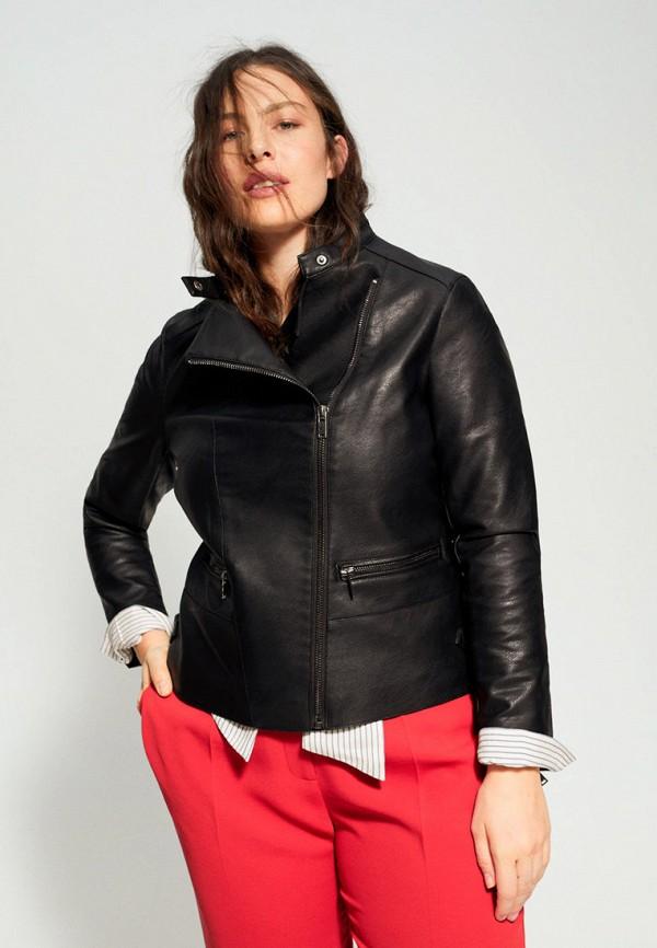 женская куртка violeta by mango, черная