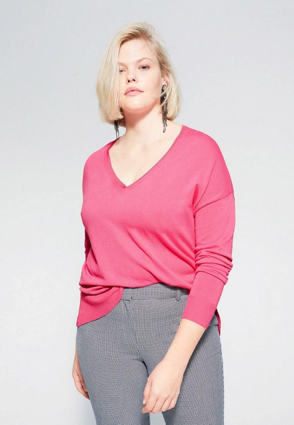 женский пуловер violeta by mango, розовый