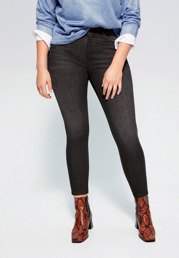 женские джинсы violeta by mango, серые