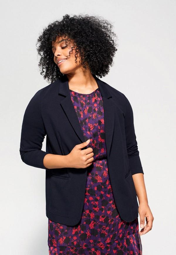 женский пиджак violeta by mango, синий