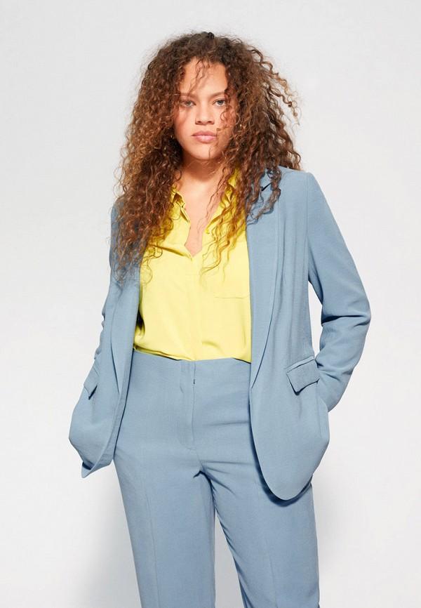 женский пиджак violeta by mango, голубой
