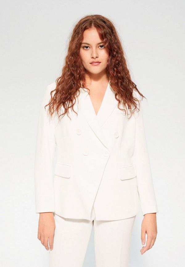 женский пиджак violeta by mango, белый