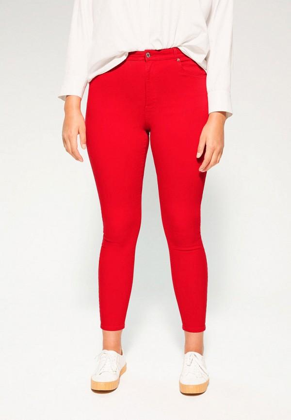 женские повседневные брюки violeta by mango, красные