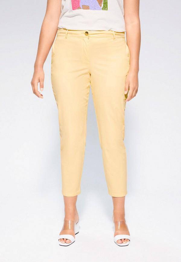 женские зауженные брюки violeta by mango, желтые