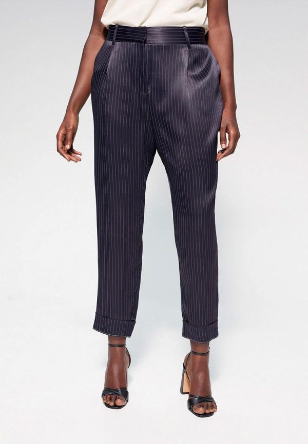 женские зауженные брюки violeta by mango, синие