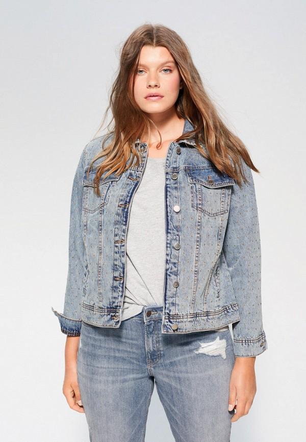 женская джинсовые куртка violeta by mango, голубая