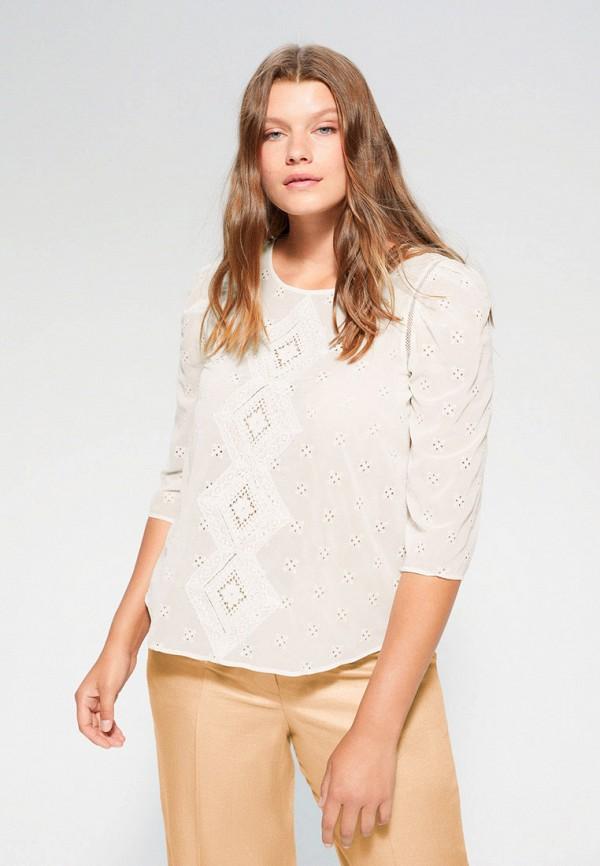 женская блузка с длинным рукавом violeta by mango, белая