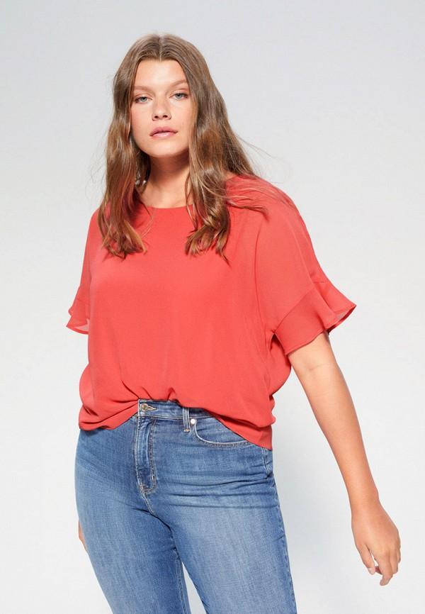 женская блузка с коротким рукавом violeta by mango