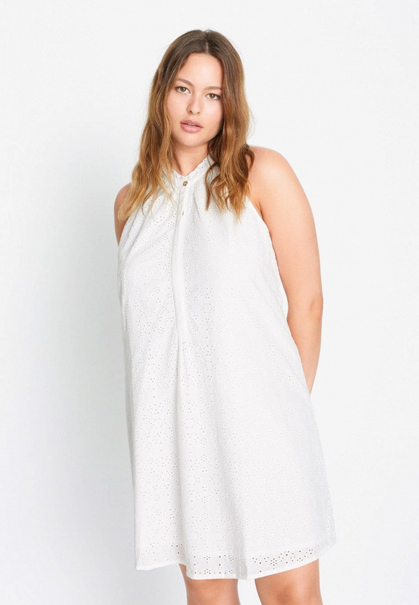 женское повседневные платье violeta by mango, белое
