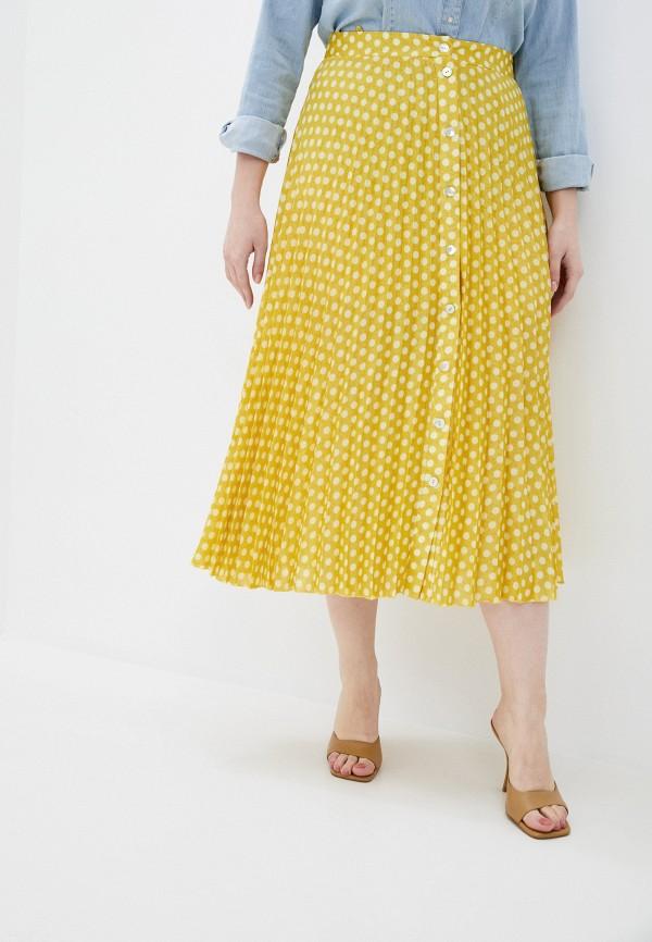 женская юбка violeta by mango, желтая