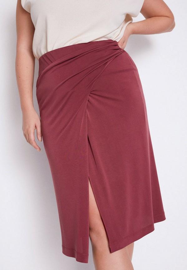 женская прямые юбка violeta by mango, розовая