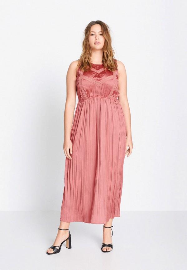 женское вечерние платье violeta by mango, розовое