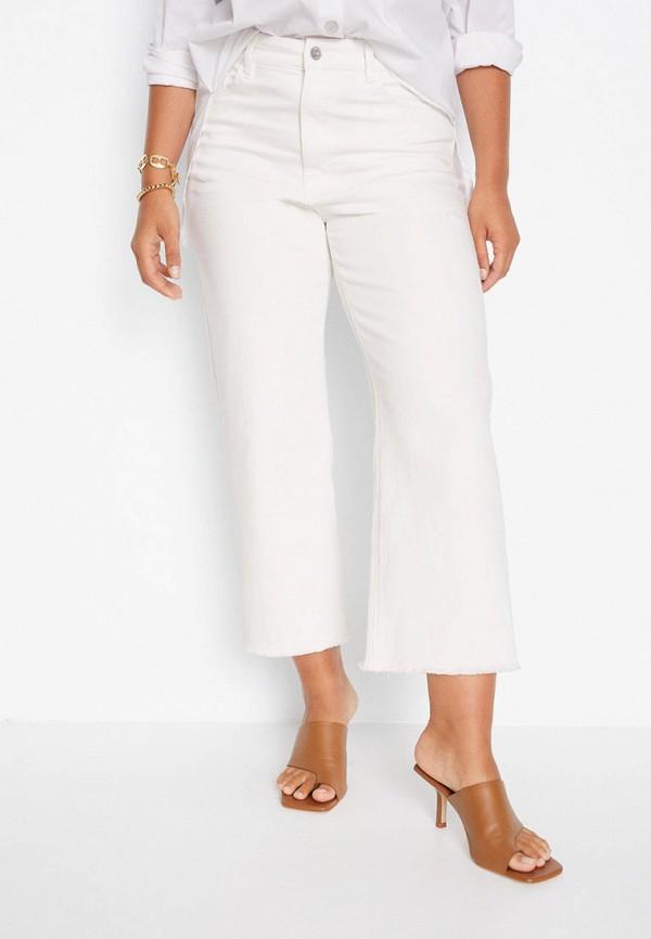 женские джинсы violeta by mango, белые