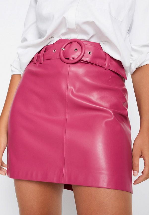 женская юбка violeta by mango, розовая