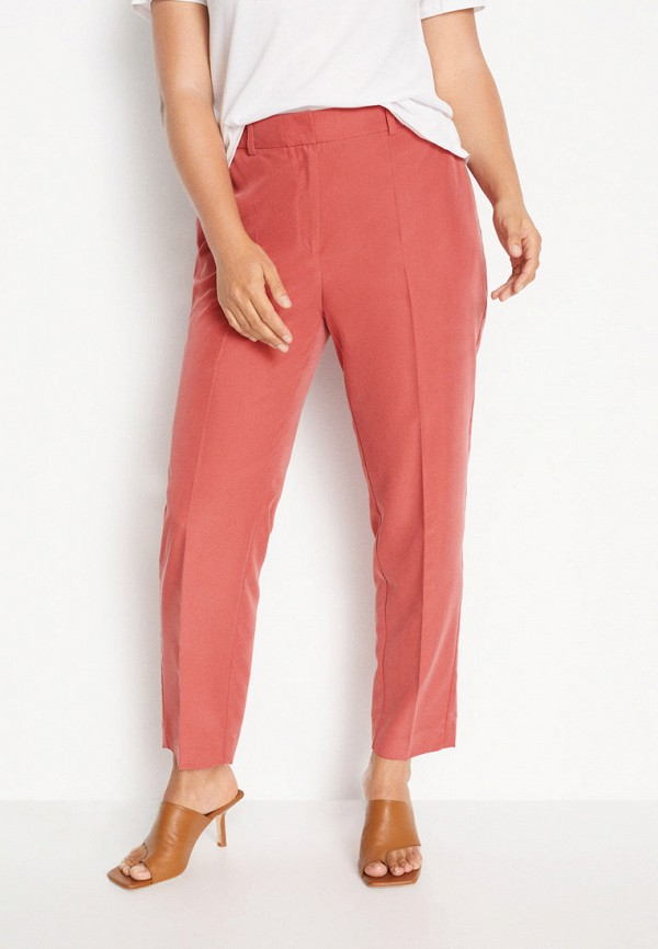 женские прямые брюки violeta by mango, розовые