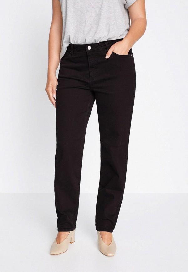 женские джинсы violeta by mango, черные