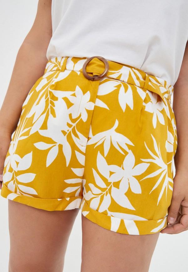 женские повседневные шорты violeta by mango, желтые