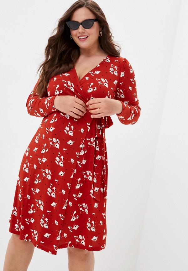 женское платье violeta by mango, красное