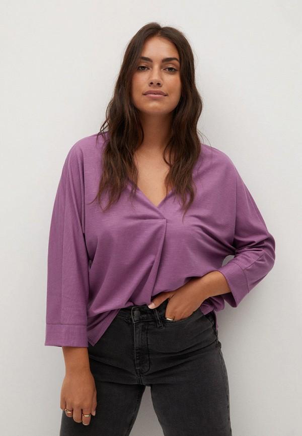 женский лонгслив violeta by mango, розовый