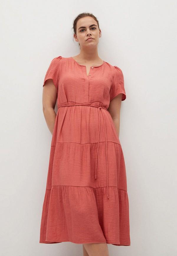 женское повседневные платье violeta by mango, красное