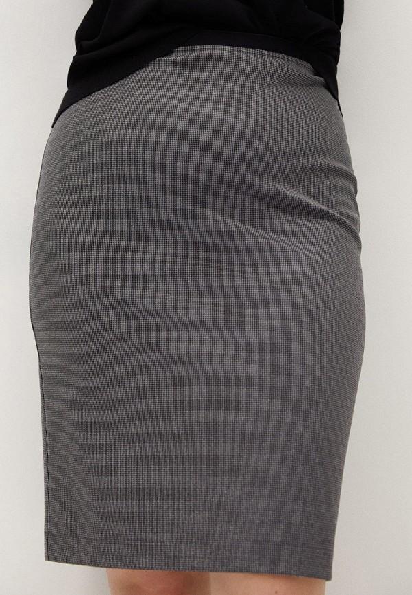женская зауженные юбка violeta by mango, серая