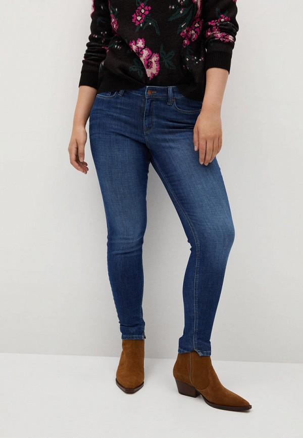 женские джинсы violeta by mango, синие