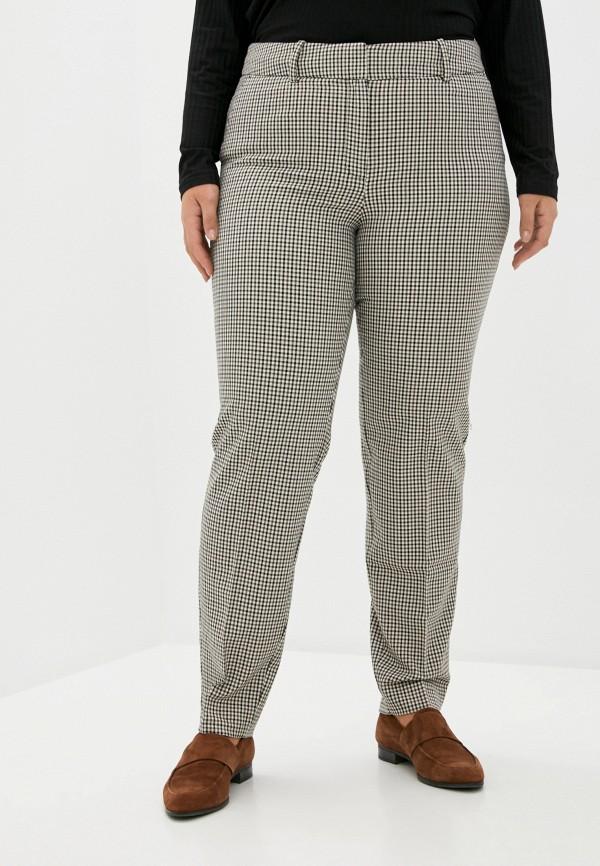 женские классические брюки violeta by mango, бежевые