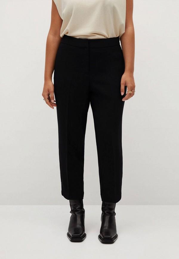 женские зауженные брюки violeta by mango, черные