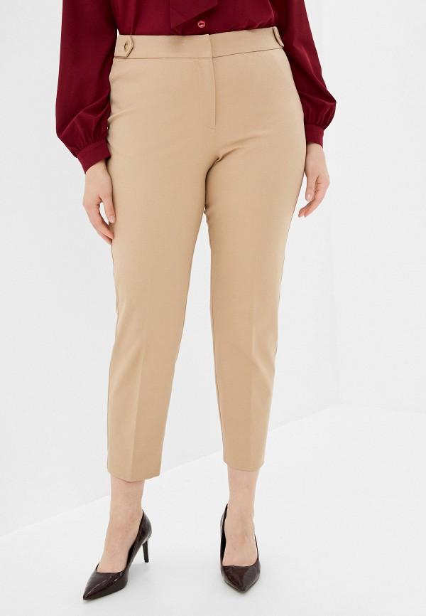 женские зауженные брюки violeta by mango, бежевые
