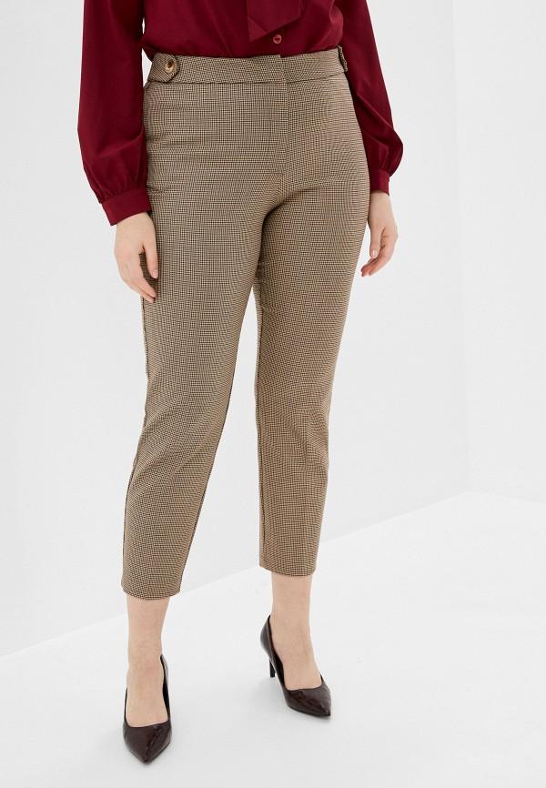 женские зауженные брюки violeta by mango, коричневые