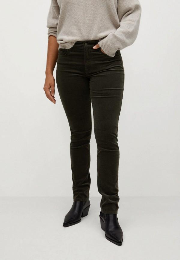 женские зауженные брюки violeta by mango, хаки