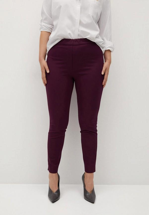 женские зауженные брюки violeta by mango, бордовые