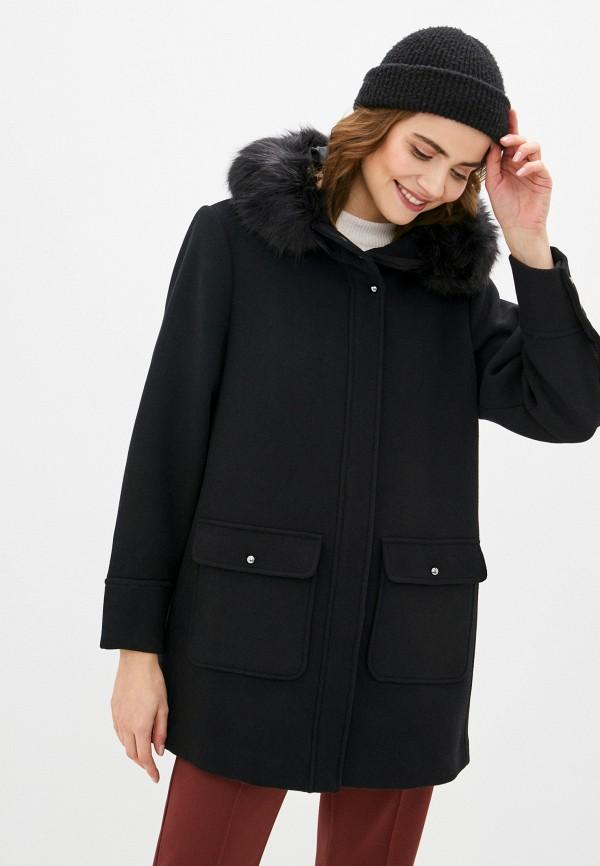 женское пальто violeta by mango, черное