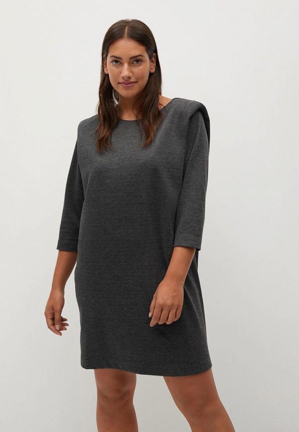 женское повседневные платье violeta by mango, серое