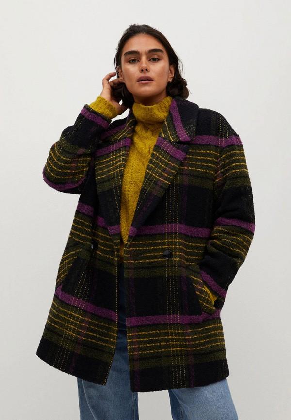 женское пальто violeta by mango, разноцветное