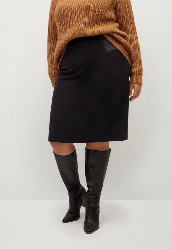 женская зауженные юбка violeta by mango, черная