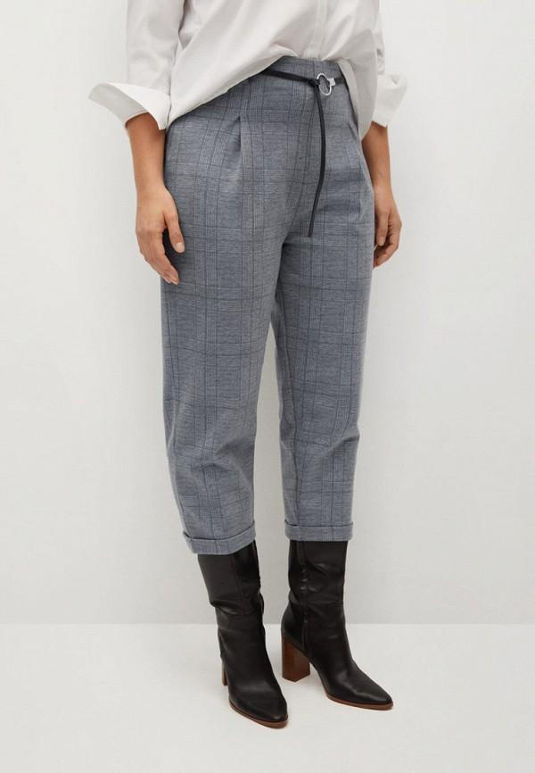 женские зауженные брюки violeta by mango, серые