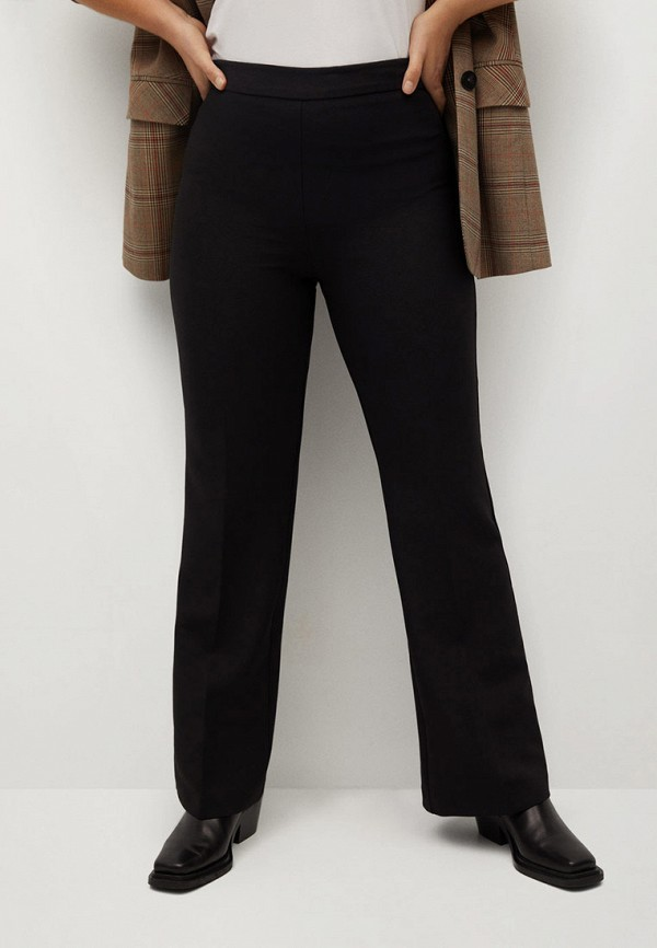 женские классические брюки violeta by mango, черные