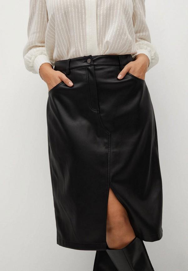 женская юбка violeta by mango, черная