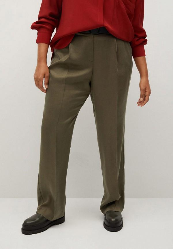 женские повседневные брюки violeta by mango, хаки