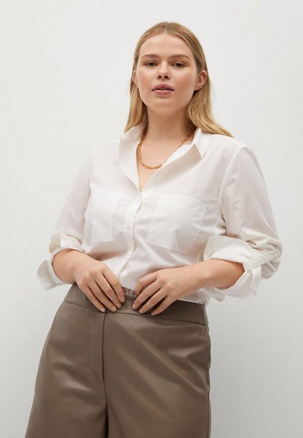 женская рубашка с длинным рукавом violeta by mango, белая