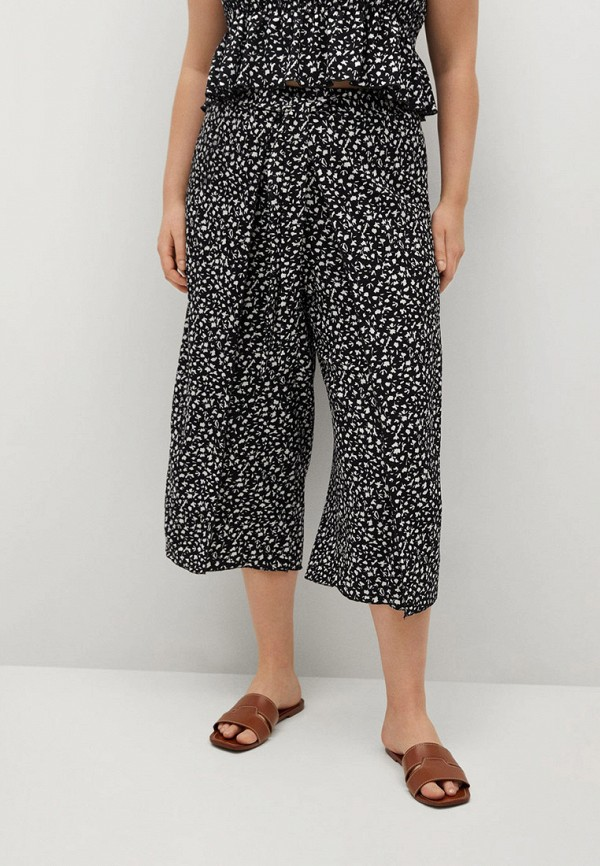 женские брюки клеш violeta by mango, черные