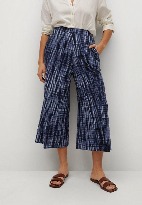 женские брюки клеш violeta by mango, синие