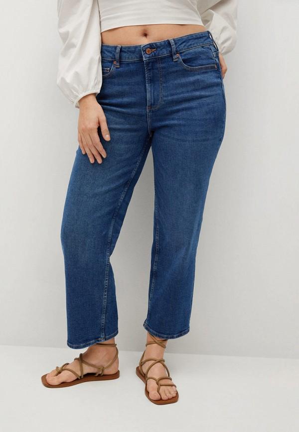 женские прямые джинсы violeta by mango, синие