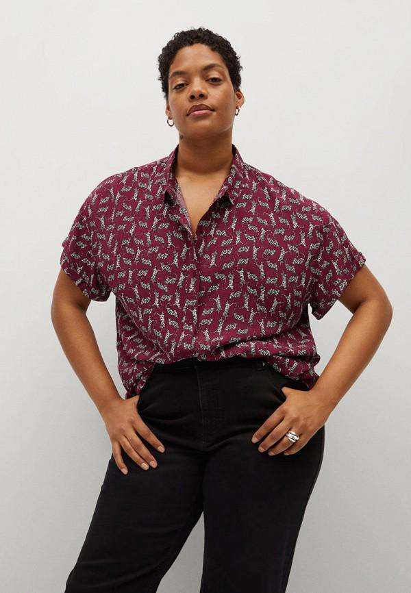 женская блузка violeta by mango, бордовая