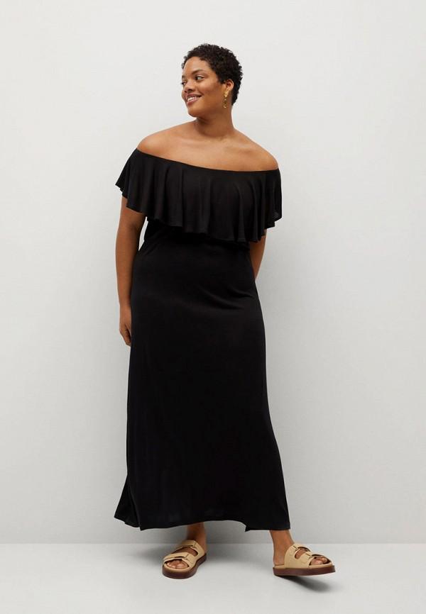 женское платье violeta by mango, черное