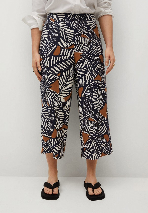 женские брюки джоггеры violeta by mango, черные